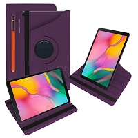 Samsung Galaxy Tab S6 (2019) SM-T860 New Leather Case With Stylus Pen Slot Purple
